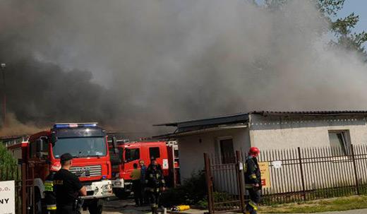 pożar napancerniakow