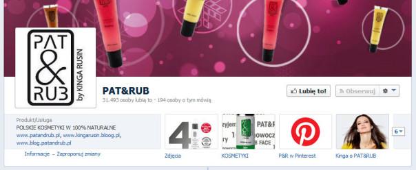 Ikonka Pinterest naprofilu Pat & Rub naFacebooku