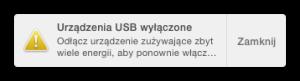 Urządzenie USB wyłączone